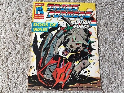 Transformers comic #237 Marvel UK 30th Sept 89