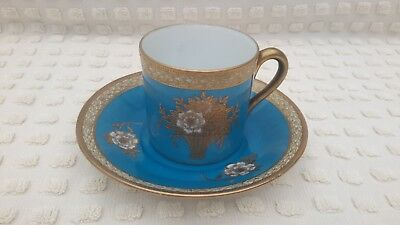 Super Gilded Noritake Coffee Can And Saucer #1