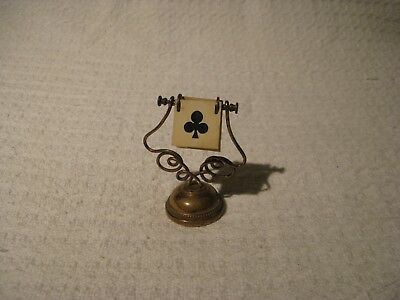 Vintage Brass & Celluloid Playing Card Whist Bridge Trumps Game Marker