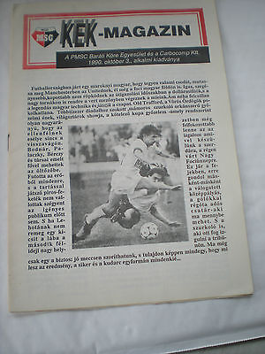 MSC Pécsi V Manchester United Football Programme Dated 3rd October 1990