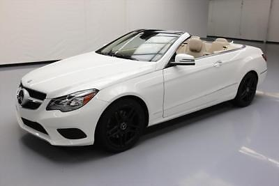2014 Mercedes-Benz E-Class  2014 MERCEDES-BENZ E350 CONVERTIBLE P1 NAV REAR CAM 31K #267549 Texas Direct