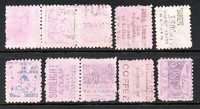New Zealand stamps. ADSON stamps Page of old 1882 1d. Sideface. seconds.