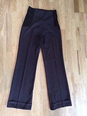 """FRAGILE ANTWERP Ladies Brown Maternity Trousers Under Bump Size S L33"""""""