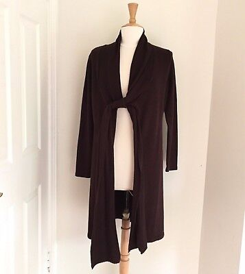 FRAGILE ANTWERPEN Ladies Maternity Long Thick Brown Cardigan Size S