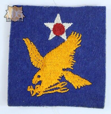 WW2 US Army Air Corps Second Air Force British Made Felt Patch