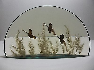 Vintage Lucite Sculpture CANADIAN GEESE World Of Nature CANADA 5 POUNDS 12""