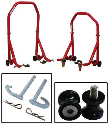 Series 3 Red Front and Rear Stands Bobbin Spools Black 6mm Aprilia Flaco All