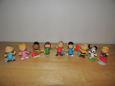 """LOT of 9 Collectible Vinyl Peanuts Characters Figures Linus Franklin Marcie 3"""""""