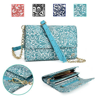 KroO Paisley Universal Purse with Shoulder Strap fits Smartphones upto 5.7 Inch