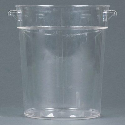 Thunder Group Polycarbonate Round Food Storage Container, 4-Quart, Clear