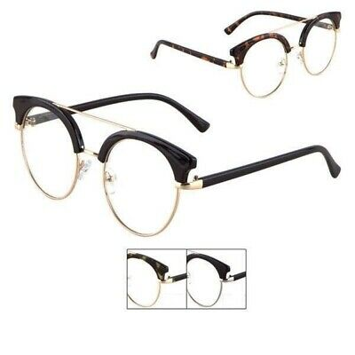 430d50411d Half Frame Retro Nerd Style Optical Horned Rim Clear Lens Club Master  Glasses