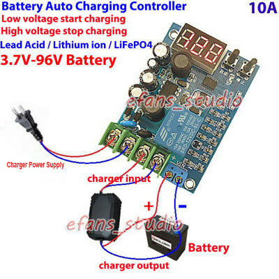 LED 12V 24V 36V 48V 60V Battery BMS Charger Automatic Charging Controller Module