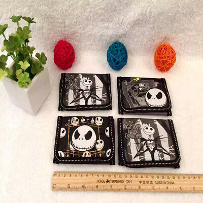 1pcs Nightmare Before Christmas Wallet Trifold Zip Cartoon Coin Purse Kids Gifts