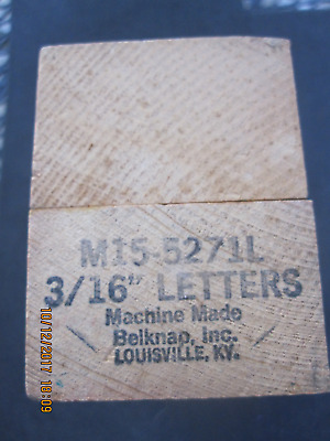 "3/16"" Metal Stamps by Belknap makers of Blue Grass Hardware"