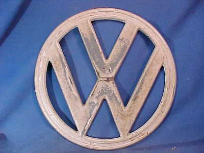 Original 1960s VOLKSWAGON BUS Metal VW LOGO From Nose