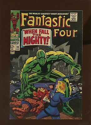 Fantastic Four 70 FN/VF 7.0 * 1 Book Lot * When Fall the Mighty by Lee & Kirby!
