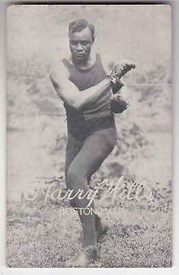 "BOXING - HARRY WILLS - ""BLACK PANTHER"" - H/W CONTENDER 1907-32 - c1923 POSTCARD"