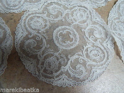 Antique French Alencon Lace 10 Creamy Small Round  Dollies