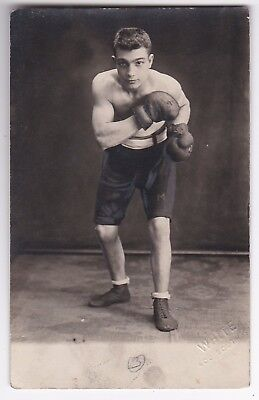 "BOXING - AL ""BATTLING"" MURRAY - US FLYWEIGHT OUT OF PHILLY 1915-27 - c1920 RPPC"
