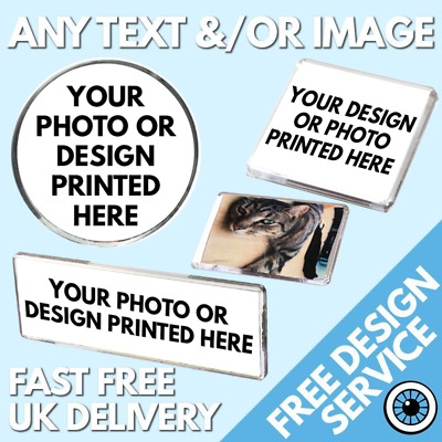 Custom Fridge Magnets • Bespoke Printed Personalised Image Logo Holiday Magnet