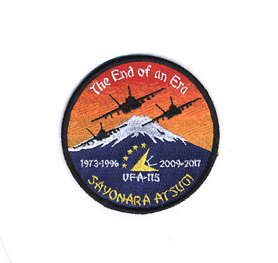 USN VFA-115 EAGLES SAYONARA ATSUGI The End of an Era 2017 PATCH