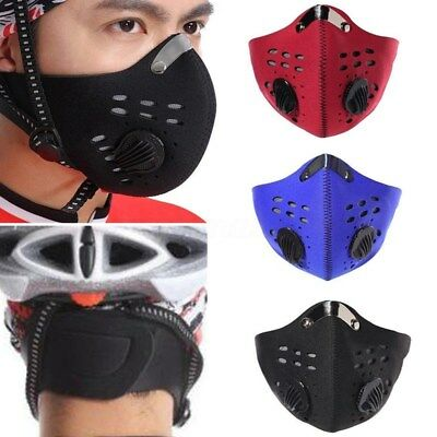 US PM2.5 Gas Protection Filter Respirator Dust Mask Head Cycling Riding Mask