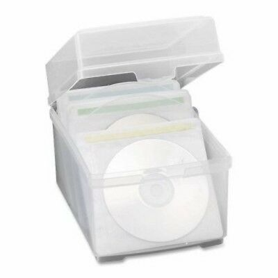 "Compucessory CD Storage Box,w/50 Sleeves, 5-3/4""x7-1/2""x5-1/2"", Clear (CCS22292)"