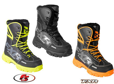 2018 FXR XCross Snowmobile Boot Black Orange Hi-vis 7 8 9 10 11 12 13 Men's