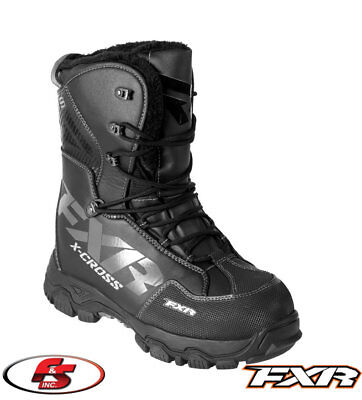 2018 FXR XCross Boot Black Men's Snowmobile Boots Size 8 9 11 Snocross