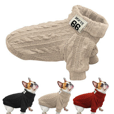 Dog Sweater Jacket Small Pet Winter Clothes Knitwear Puppy Clothing Warm Apparel