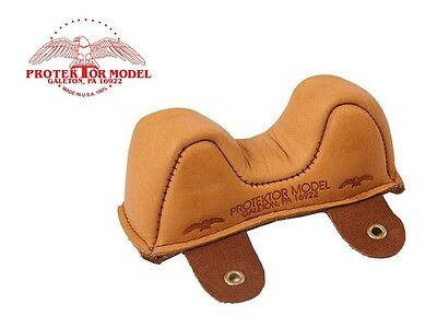 Protektor Model - New Empty #1 Leather Front Owl Bag Shooting Rest Made In Usa