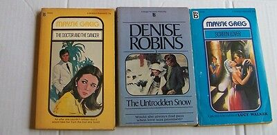 Book Lot  Vintage Modern Romantic Fiction Paperbacks Denise Robins Maysie Greig