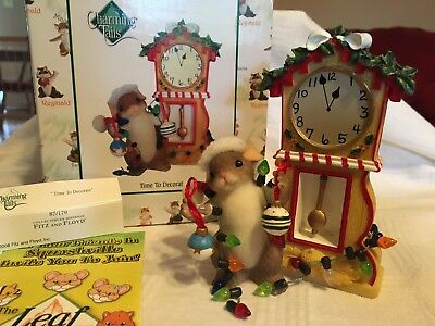 """Charming Tails """"TIME TO DECORATE""""  DEAN GRIFF NIB CHRISTMAS"""