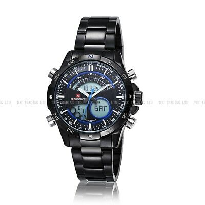 Naviforce Quartz Watch Sport Military Wrist Men Relogio 3ATM Stainless Steel New