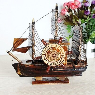 Chinese Wooden Hand-made Ship Model Music Box YM80515