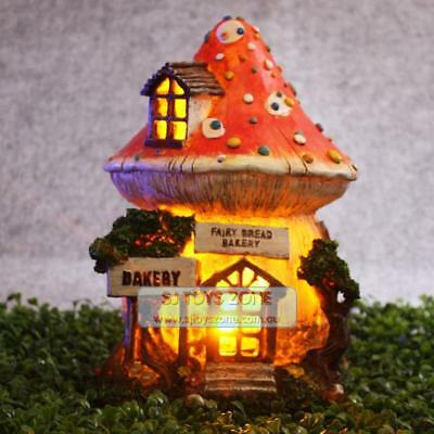 Bread Bakery Fairy Fairy Solar House Elf Goblin Light Up Outdoor Garden Decor