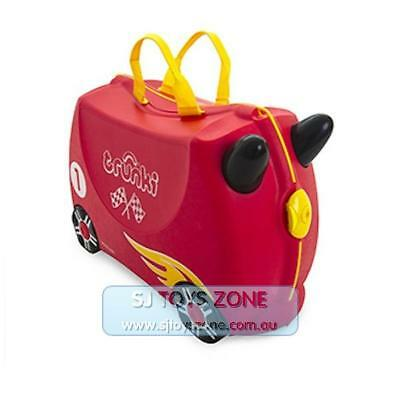 Trunki Ride On Suitcase Rocco Race Car Fun Little Kids Children Luggage Toy