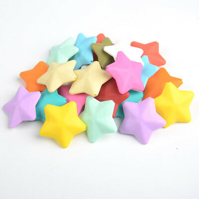 3D Star Silicone Teething Beads DIY Baby Chew Necklace Teether Jewelry Making