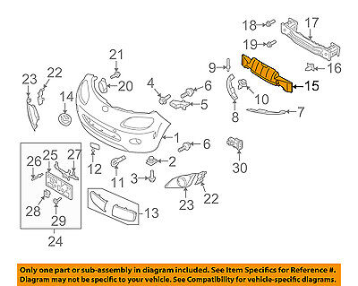 NEW OEM FRONT MASK BRA HARDWARE KIT 2001-2008 MAZDA MX-5 MIATA #0000-8G-D05