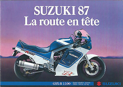 SUZUKI LOT de 3  gammes 1987 . 88 .91 catalogue prospectus .brochure. prospekt