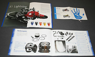 BUELL  X1 .CYCLONE 2000.1999 lot de 2  catalogue prospectus .brochure. prospekt