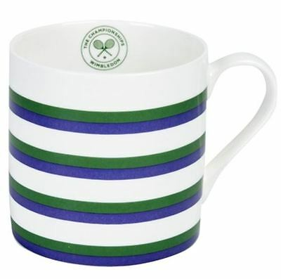 Wimbledon The Championship Official Green Purple Striped Mug Boxed New