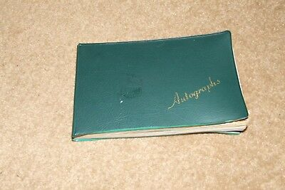 MANCHESTER UNITED 1960s football autograph book George Best Alan Cowling etc
