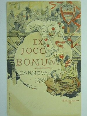 Carnival-Italy-Tarvisio-1899-Artist Signed-Vq5-S40837