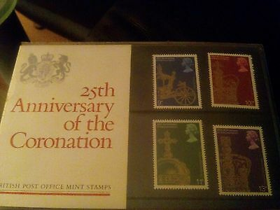Royal Mail Stamps. 25th Anniversary of the Coronation. 1978.