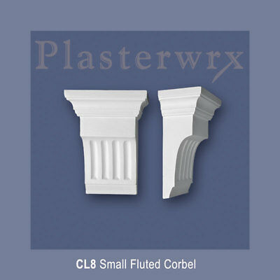 Small Plaster Corbel (CL8) Fluted  corbels 132mm wide