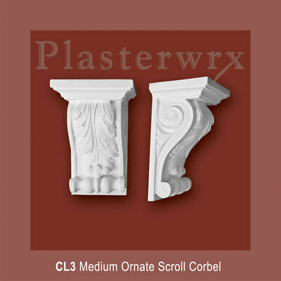 Medium Ornate Scroll Plaster Corbel (CL3)  hallway livingroom corbels