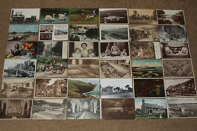 Collection job lot topographical & other vintage postcards lot 1