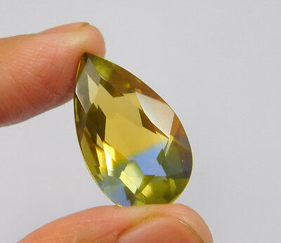 17 Cts. Treated Faceted Pear Shape Ametrine Cut Loose Cab Gemstone NG2023