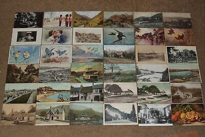 Collection job lot topographical & other vintage postcards lot 2